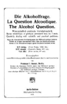 Die Alkoholfrage, 1918, Jg. XIV, H. 1