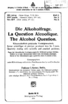 Die Alkoholfrage, 1918, Jg. XIV, H. 2