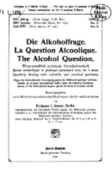 Die Alkoholfrage, 1918, Jg. XIV, H. 3