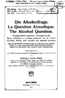 Die Alkoholfrage, 1918, Jg. XIV, H. 4