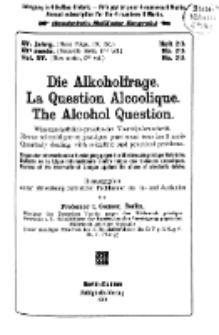 Die Alkoholfrage, 1919, Jg. XV, H. 2/3
