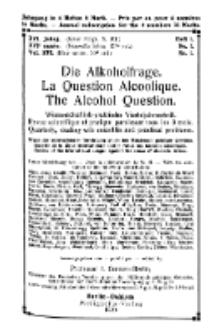 Die Alkoholfrage, 1920, Jg. XVI, H. 1