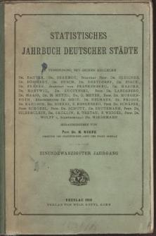 Statistisches Jahrbuch deutscher Städte, 1916