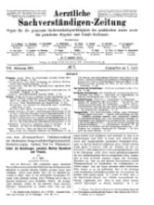 Aerztliche Sachverständigen-Zeitung, 8. Jg. 1. April 1902, No 7.