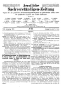 Aerztliche Sachverständigen-Zeitung, 8. Jg. 15. Juni 1902, No 12.