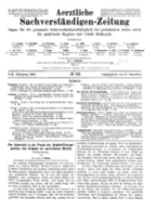 Aerztliche Sachverständigen-Zeitung, 8. Jg. 15. Dezember 1902, No 24.