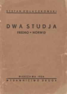 Dwa studja : Fredro, Norwid