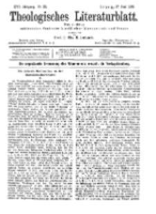 Theologisches Literaturblatt, 27. Juni 1895, Nr 26.
