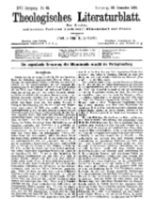 Theologisches Literaturblatt, 20. Dezember 1895, Nr 51.