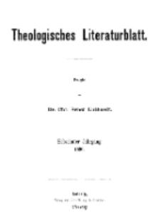 Theologisches Literaturblatt, 1896 (Inhaltsverzeichniß)