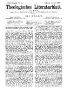 Theologisches Literaturblatt, 10. April 1896, Nr 15.