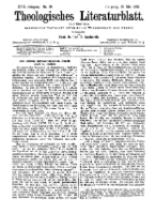 Theologisches Literaturblatt, 15. Mai 1896, Nr 20.