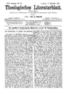Theologisches Literaturblatt, 18. September 1896, Nr 38.