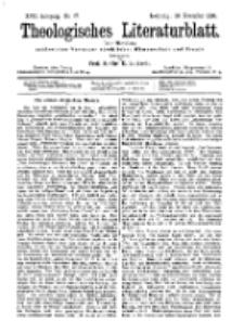 Theologisches Literaturblatt, 20. November 1896, Nr 47.