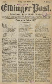 Elbinger Post, Nr. 1, Freitag 1 Januar 1875, 2 Jh