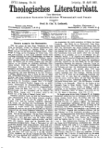 Theologisches Literaturblatt, 23. April 1897, Nr 16.