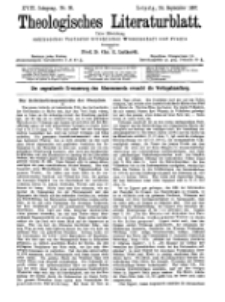 Theologisches Literaturblatt, 24. September 1897, Nr 38.