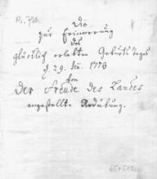 Die zur Erinnerung des Geburstages Friedrichs II