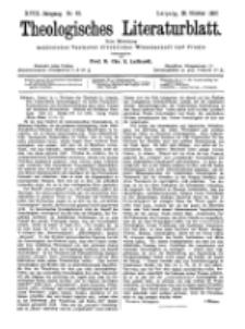Theologisches Literaturblatt, 29. Oktober 1897, Nr 43.