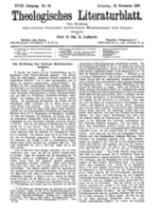 Theologisches Literaturblatt, 19. November 1897, Nr 46.