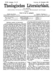 Theologisches Literaturblatt, 26. November 1897, Nr 47.