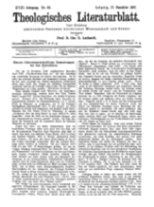 Theologisches Literaturblatt, 17. Dezember 1897, Nr 50.