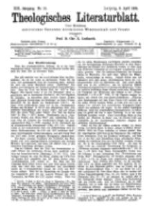 Theologisches Literaturblatt, 8. April 1898, Nr 14.