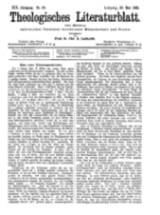 Theologisches Literaturblatt, 20. Mai 1898, Nr 20.