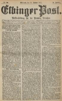 Elbinger Post, Nr. 10, Mittwoch 13 Januar 1875, 2 Jh