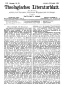 Theologisches Literaturblatt, 26. August 1898, Nr 34.