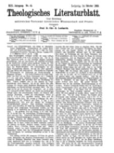 Theologisches Literaturblatt, 14. Oktober 1898, Nr 41.