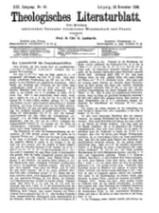 Theologisches Literaturblatt, 18. November 1898, Nr 46.