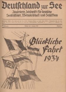 Deutschland zur See, 19. Jg. 1. Januar 1934, Nummer 1.