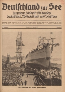 Deutschland zur See, 19. Jg. 1. August 1934, Nummer 8.