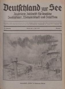 Deutschland zur See, 18. Jg. 1. Juli 1933, Nummer 7.