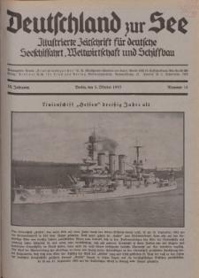 Deutschland zur See, 18. Jg. 1. Oktober 1933, Nummer 10.