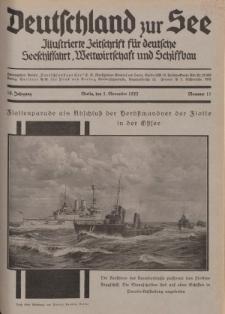 Deutschland zur See, 18. Jg. 1. November 1933, Nummer 11.