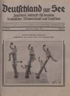 Deutschland zur See, 17. Jg. 1. Januar 1932, Nummer 1.