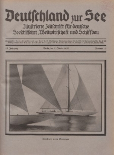 Deutschland zur See, 17. Jg. 1. Oktober 1932, Nummer 10.