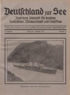 Deutschland zur See, 17. Jg. 1. Dezember 1932, Nummer 12.