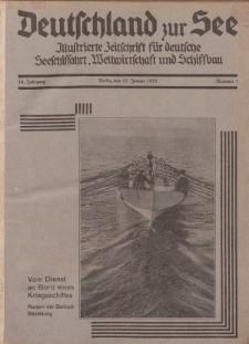 Deutschland zur See, 16. Jg. 15. Januar 1931, Nummer 1.