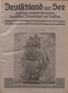 Deutschland zur See, 16. Jg. 15. Februar 1931, Nummer 2.