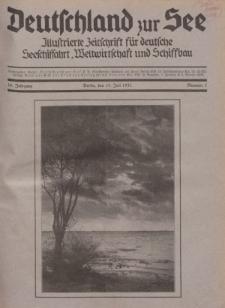 Deutschland zur See, 16. Jg. 15. Juli 1931, Nummer 7.