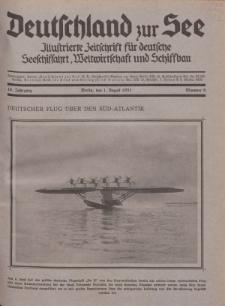 Deutschland zur See, 16. Jg. 1. August 1931, Nummer 8.