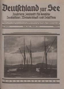 Deutschland zur See, 16. Jg. 1. November 1931, Nummer 11.