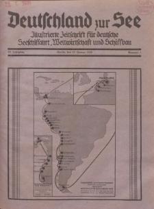 Deutschland zur See, 15. Jg. 15. Januar 1930, Nummer 1.
