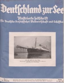 Deutschland zur See, 14. Jg. Juli 1929, Heft 7.