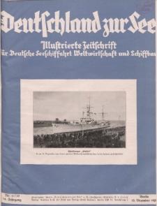 Deutschland zur See, 14. Jg. November/ Dezember 1929, Heft 11/12.