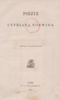 Poezye Cypriana Norwida. Pierwsze wydanie zbiorowe