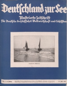 Deutschland zur See, 12. Jg. Juli 1927, Heft 7.